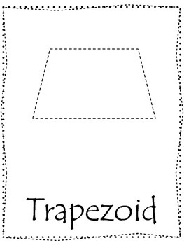 Shape tracing.  Trace the Trapezoid Shape.  Preschool printable curriculum.