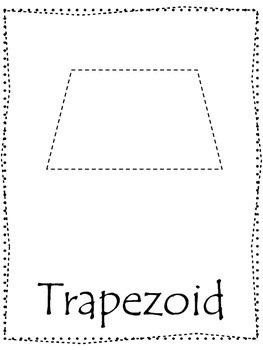 Shape tracing.  Trace the Trapezoid Shape.  Preschool prin