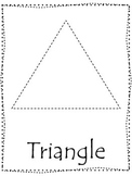 Shape tracing.  Trace the Triangle Shape.  Preschool printable curriculum.