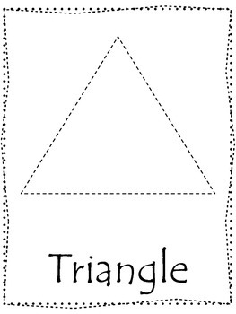 graphic about Printable Triangle named Form tracing. Hint the Triangle Form. Preschool printable curriculum.