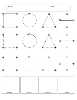 Shape tracing- writing practice and assessment tool