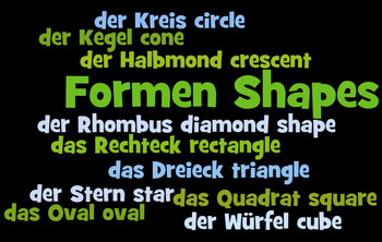 Shape words in German