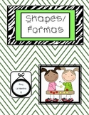 Shape worksheet in English & Spanish