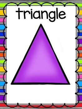 Bright, Rainbow 2D Shape Posters