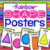 Bright, Rainbow 2D Shape Posters