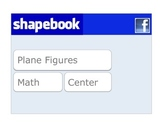 """Shapebook"" Plane Figures Sort ~ Center Activity"
