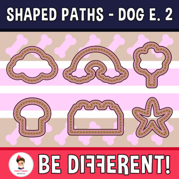 Shaped Paths Clipart - Dog Edition 2 (Guided Set)