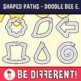 Shaped Paths Clipart - Doodle Bee Edition (Guided Set)