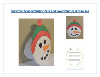 Shaped Writing Page and Cover (Snowman): Winter Writing Aid