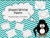 Shaped Writing Papers