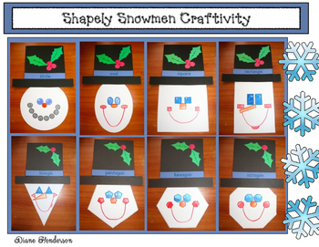 Winter: Shapely Snowmen Craft For 2D Shapes