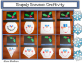 Snowman Craft Winter Activities 2D Shapes