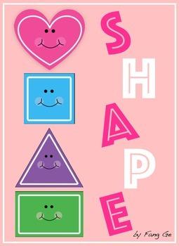 Shape Posters with Polka Dot Frames (English)