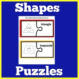 Kindergarten Math Center | Shapes Center | Shapes Activities | Shapes Puzzles