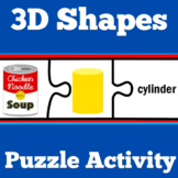 3D Shapes Worksheets Puzzles