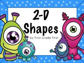 Flat Shapes Center, Tasks Cards, and No Prep Worksheets