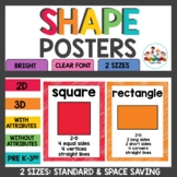 Basic 2D and 3D Shape Posters