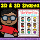 2D and 3D Shapes Math Game Tic Tac Toe
