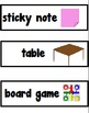 Shapes 2-D and 3-D Chart Pieces and Picture Cards - Common Core