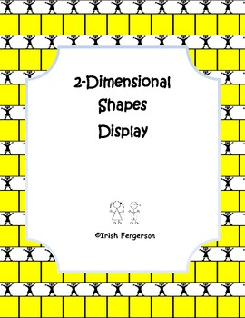 Shapes 2-Dimensional Shapes Display