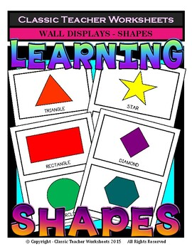 Shapes - 2D Shapes Wall Displays - Grades 1-6 (1st-6th Grade)