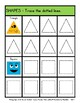 2D Shapes with Faces - Trace the Shapes - Kindergarten to