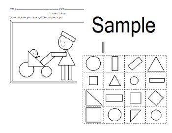 Shapes 2 Dimensional Worksheets, booklet and sorting mats