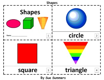 Shapes 2 Early Reader Booklets - ENGLISH