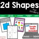 Flat Shapes, 2D Shapes, Polygons, Geometry, Printable and Bonus GOOGLE SLIDES™