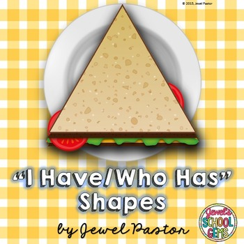 Shapes Game (Shapes I Have Who Has Game)