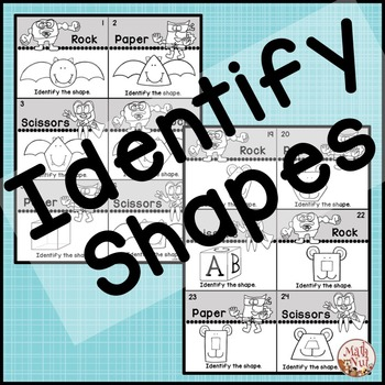 """2D Shapes Rock, Paper Scissors """"Shape Identification Game"""""""