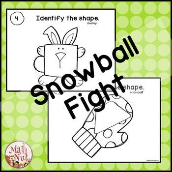 "2D Shape Snowball Fight ""Shape Identification Game"""