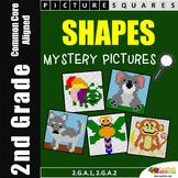 Math Worksheet Shapes 2nd Grade Worksheet, Mystery Pictures 2D & 3D Shape Center
