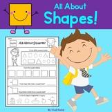 Shapes Worksheets - 2D Shapes and 3D Shapes (Kindergarten)