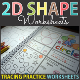 2D Shape Posters Worksheets Tracing Practice