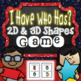 2D and 3D Shapes Math Centers