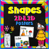 Shapes 2D and 3D Posters | Real Life
