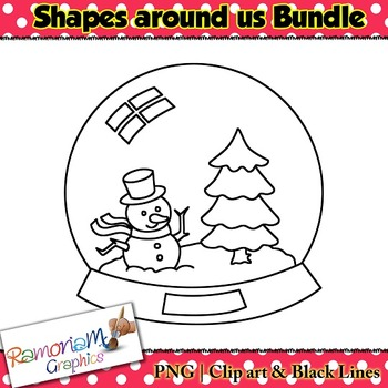 Shapes in Real Life Clip art Bundle