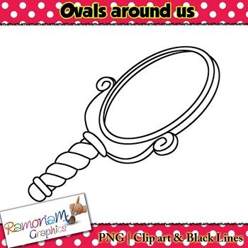 Shapes 2D 3D Ovals Clip art