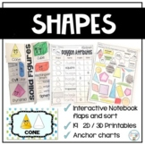 2D and 3D Shapes Worksheets Plane & Solid Figures
