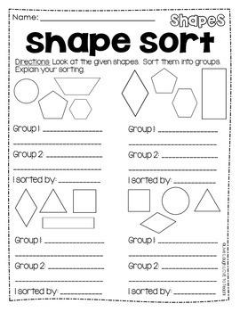 2D and 3D Shapes Worksheets Plane & Solid Figures