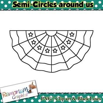 Shapes 2D 3D Semi Circle Clip art