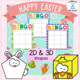 Shapes - 2D & 3D Shapes - Easter Bingo