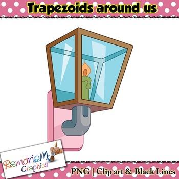 Shapes 2D 3D Trapezoids Clip art