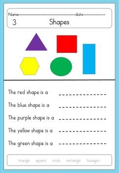 Shapes 2D & 3D no prep printables- Kindergarten-Autism-Special ed