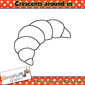 Shapes 2D Crescent Clip art
