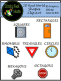 2D Real World Shapes Clip Art