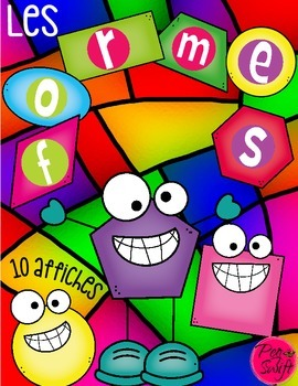 Shapes 2D Posters ~ French ~ Les formes
