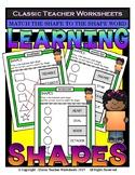 Shapes - 2D Shapes - Match Shape to Shape Word - Grades 1-2 (1st-2nd Grade)