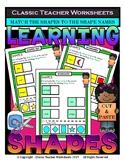 2D Shapes - Match Shapes to Shape Names -Cut & Paste- Grades 1-2 (1st-2nd Grade)